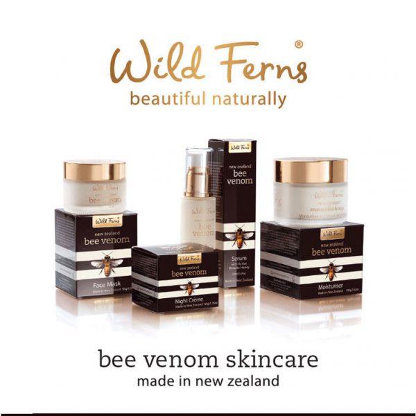 Wild ferns bee venom skincare range